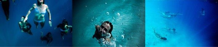 underwater ladies
