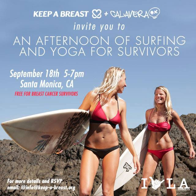 surf bikini label, Calavera, supports Keep A Breast Foundation