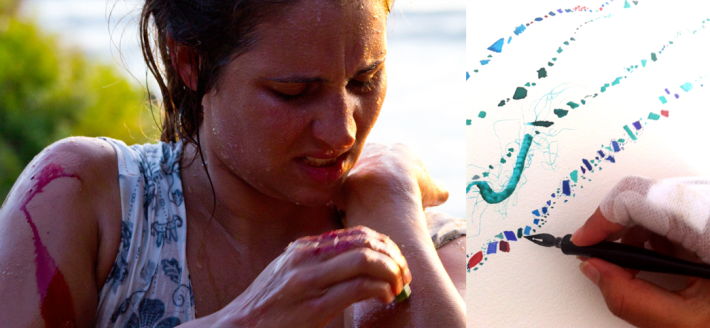 Jess Leitmanis Illustrator, Surfer, Designer, Professional Salt Gypsy